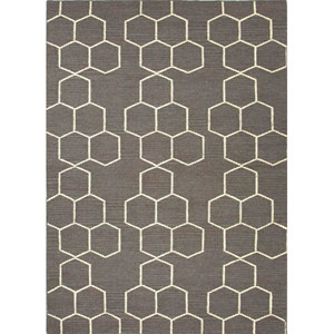 Maroc Gray and Ivory Rectangular: 5 Ft. x 8 Ft. Rug