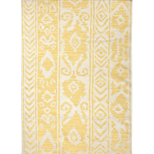 Urban Bungalow Ivory and Yellow Rectangular: 5 Ft. x 8 Ft. Rug