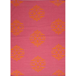 Maroc Pink and Orange Rectangular: 5 Ft. x 8 Ft. Rug