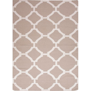 Maroc Taupe and Ivory Rectangular: 5 Ft. x 8 Ft. Rug