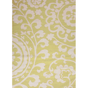 Maroc Green Ivory Rectangular: 5 Ft. x 8 Ft. Rug