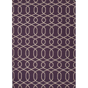 Urban Bungalow Purple and Ivory Rectangular: 5 Ft. x 8 Ft. Rug