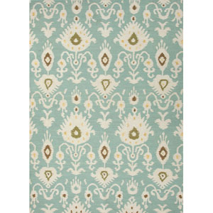 Urban Bungalow Blue and Ivory Rectangular: 5 Ft. x 8 Ft. Rug