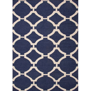 Maroc Ivory and Light Blue Rectangular: 5 Ft. x 8 Ft. Rug