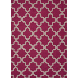 Maroc Pink and Ivory Rectangular: 5 Ft. x 8 Ft. Rug