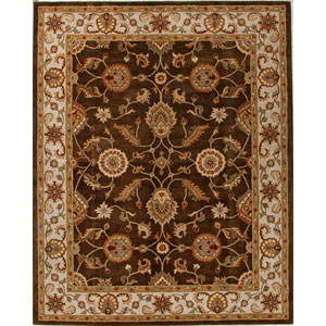 Mythos Brown and Ivory Rectangular: 5 Ft. x 8 Ft. Rug