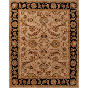 Mythos Taupe and Black Rectangular: 5 Ft. x 8 Ft. Rug