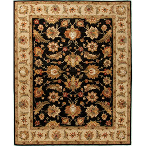 Mythos Black and Tan Rectangular: 5 Ft. x 8 Ft. Rug