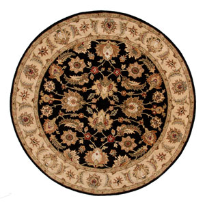 Mythos Black and Tan Round: 10 Ft. x 10 Ft. Rug