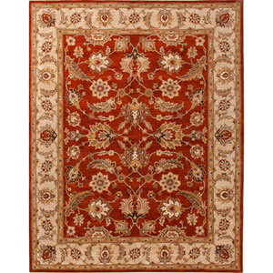 Mythos Red and Taupe Rectangular: 5 Ft. x 8 Ft. Rug