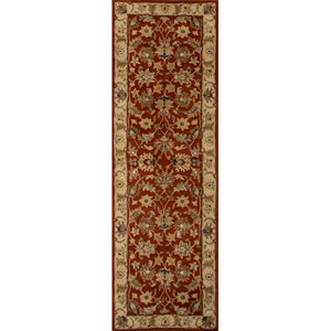 Mythos Red and Taupe Runner: 4 Ft. x 16 Ft. Rug