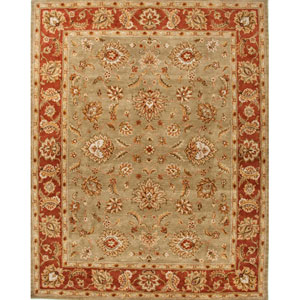 Mythos Green and Red Rectangular: 5 Ft. x 8 Ft. Rug