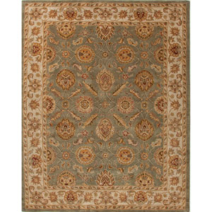 Mythos Green and Ivory Rectangular: 5 Ft. x 8 Ft. Rug