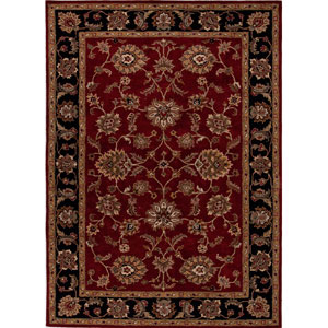 Mythos Red and Black Rectangular: 5 Ft. x 8 Ft. Rug