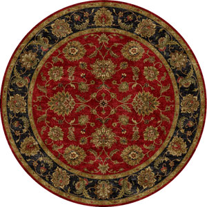 Mythos Red and Black Round: 10 Ft. x 10 Ft. Rug