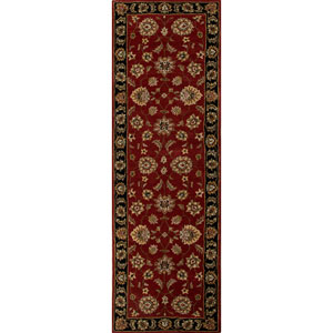 Mythos Red and Black Runner: 4 Ft. x 16 Ft. Rug