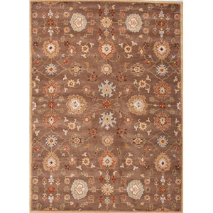 Poeme Brown and Red Rectangular: 5 Ft. x 8 Ft. Rug