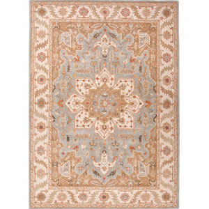 Poeme Blue and Ivory Rectangular: 5 Ft. x 8 Ft. Rug