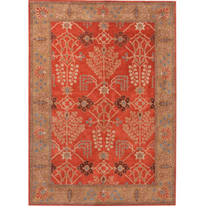 Poeme Orange and Brown Rectangular: 5 Ft. x 8 Ft. Rug