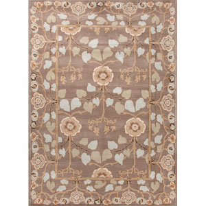 Poeme Gray and Blue Rectangular: 5 Ft. x 8 Ft. Rug