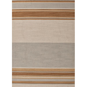 Pura Vida Blue and Brown Rectangular: 5 Ft. x 8 Ft. Rug