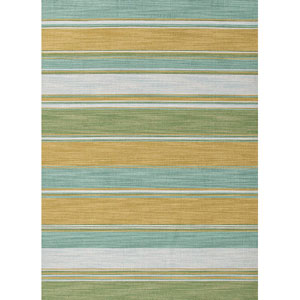 Pura Vida Blue Green Rectangular: 5 Ft. x 8 Ft. Rug