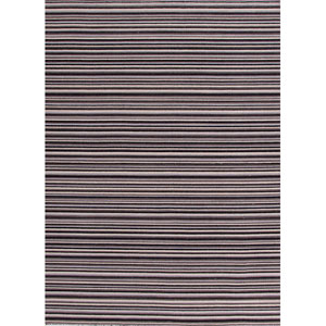 Pura Vida Black and Ivory Rectangular: 5 Ft. x 8 Ft. Rug