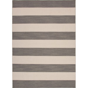 Pura Vida Gray and Ivory Rectangular: 5 Ft. x 8 Ft. Rug