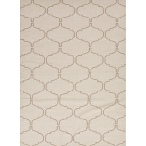 Maroc Ivory and Taupe Rectangular: 5 Ft. x 8 Ft. Rug