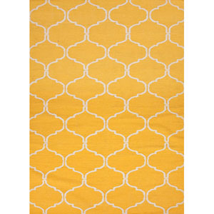 Maroc Yellow and Ivory Rectangular: 5 Ft. x 8 Ft. Rug