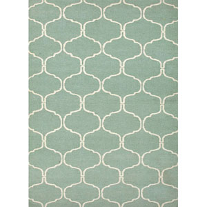 Maroc Blueish Ivory Rectangular: 5 Ft. x 8 Ft. Rug