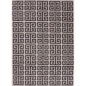 Urban Bungalow Black and Ivory Rectangular: 5 Ft. x 8 Ft. Rug