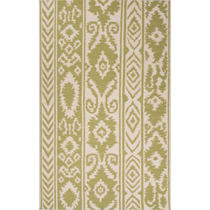 Urban Bungalow Green and Ivory Rectangular: 5 Ft. x 8 Ft. Rug