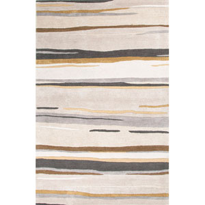 Baroque Gray and Brown Rectangular: 5 Ft. x 8 Ft. Rug