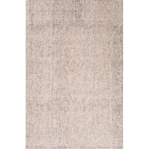 Britta Ivory and Gray Rectangular: 5 Ft. x 8 Ft. Rug