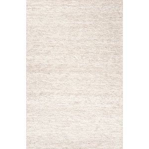 Scandinavia Rakel Ivory and Gray Rectangular: 5 Ft. x 8 Ft. Rug