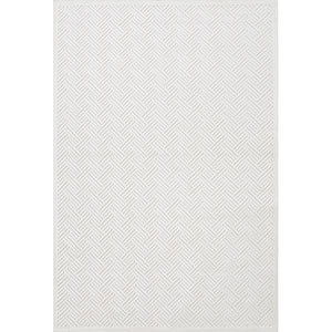 Fables White and Ivory Rectangular: 5 Ft. x 7 Ft. 6 In. Rug