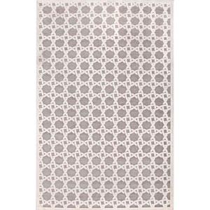 Fables Ivory Gray Rectangular: 5 Ft. x 7 Ft. 6 In. Rug