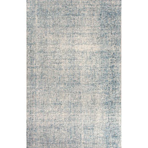 Britta Ivory and Blue Rectangular: 5 Ft. x 8 Ft. Rug