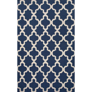 Maroc Blueish and Light Ivory Rectangular: 5 Ft. x 8 Ft. Rug