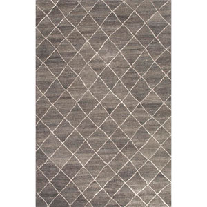 Riad Gray and Ivory Rectangular: 5 Ft. x 8 Ft. Rug