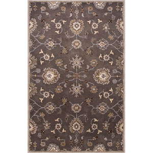 Poeme Gray and Ivory Rectangular: 5 Ft. x 8 Ft. Rug