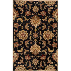 Mythos Tan and Black Rectangular: 5 Ft. x 8 Ft. Rug