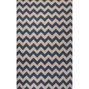 Maroc MR118 Dark Denim and White Rectangular: 8 Ft. x 10 Ft. Rug