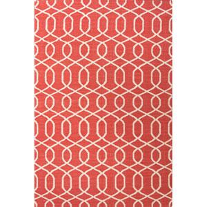 Urban Bungalow Red Ivory Rectangular: 5 Ft. x 8 Ft. Rug