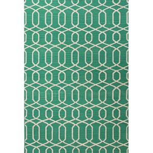 Urban Bungalow Green Ivory Rectangular: 5 Ft. x 8 Ft. Rug