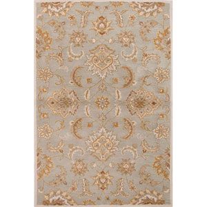 Mythos Blue and Ivory Rectangular: 5 Ft. x 8 Ft. Rug