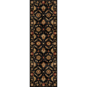 Mythos Black and Red Runner: 4 Ft. x 16 Ft. Rug