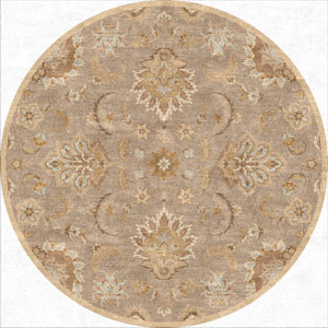 Mythos Gray and Tan Round: 10 Ft. x 10 Ft. Rug