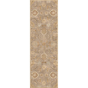 Mythos Gray and Tan Runner: 4 Ft. x 16 Ft. Rug